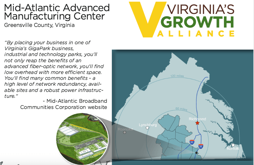 Featured Site: Mid-Atlantic Advanced Manufacturing Center (MaMaC), Virginia's Only Certified MegaSite