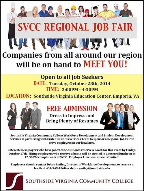 SVCC Regional Job Fair!