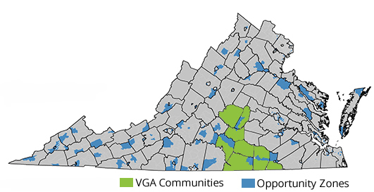 VGA Opportunity Zones map